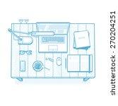 workplace. lined minimalist... | Shutterstock .eps vector #270204251