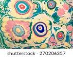 ebru marbling style texture ... | Shutterstock . vector #270206357