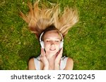 Girl Listening To Music...