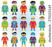 set of boy superheroes in... | Shutterstock .eps vector #270223169