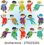 set of boy superheroes in... | Shutterstock .eps vector #270223181