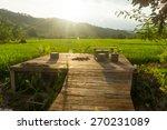 relax corner in green rice... | Shutterstock . vector #270231089