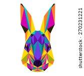 abstract rabbit. bright motley... | Shutterstock .eps vector #270231221