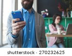 young businessman in glasses...   Shutterstock . vector #270232625