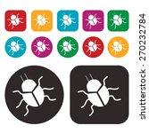 bug icon. computer bug icon.... | Shutterstock .eps vector #270232784
