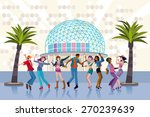 group of young people in a... | Shutterstock .eps vector #270239639