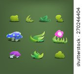 cartoon fairytale plants....