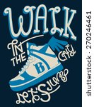 vintage sneakers and typography ... | Shutterstock .eps vector #270246461