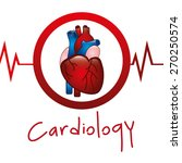 cardiology icon design  vector... | Shutterstock .eps vector #270250574