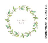 floral round wreath with... | Shutterstock .eps vector #270251111