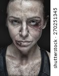 domestic violence woman being... | Shutterstock . vector #270251345
