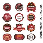 vector vintage badges  stickers ... | Shutterstock .eps vector #270252005
