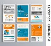 classic brochure template... | Shutterstock .eps vector #270253751