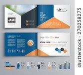 classic brochure template... | Shutterstock .eps vector #270258275