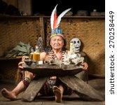 Shaman In Ecuadorian Amazonia...