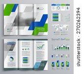 white brochure template design...   Shutterstock .eps vector #270262394