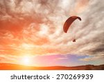 flying paraglide over the... | Shutterstock . vector #270269939