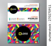 modern business card design... | Shutterstock .eps vector #270270911