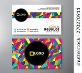 modern business card design... | Shutterstock .eps vector #270270911