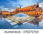 cloth hall sukiennice building... | Shutterstock . vector #270272765