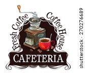cafeteria logo design template. ... | Shutterstock .eps vector #270276689