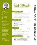 vector minimalist cv   resume... | Shutterstock .eps vector #270279881