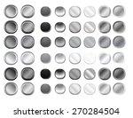 grey round internet button set | Shutterstock . vector #270284504