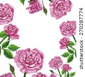 pattern bouquet of roses | Shutterstock .eps vector #270287774