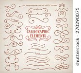 vintage decorative curls and... | Shutterstock .eps vector #270290075