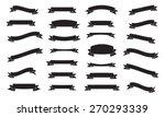 set of ribbons  black isolated... | Shutterstock .eps vector #270293339
