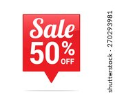 sale 50  off tag | Shutterstock .eps vector #270293981