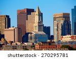 Boston Skyline In Sunlight At...