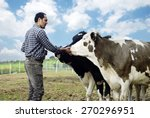 farmer and cows | Shutterstock . vector #270296951