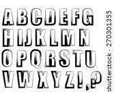 alphabet isolated on white... | Shutterstock .eps vector #270301355