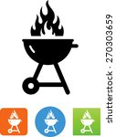 flaming grill icon | Shutterstock .eps vector #270303659