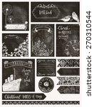 vintage chalkboard labels ... | Shutterstock .eps vector #270310544