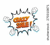 pop art crazy sale explosive... | Shutterstock .eps vector #270310871
