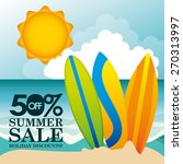summer sale design  vector... | Shutterstock .eps vector #270313997