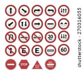 set of transit signals on a... | Shutterstock .eps vector #270316055
