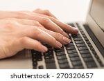 laptop  closeup  input. | Shutterstock . vector #270320657