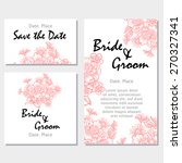 vintage flowers. wedding... | Shutterstock .eps vector #270327341