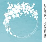 vector flowers circle frame. it ...