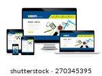 computer website design concept ...   Shutterstock .eps vector #270345395