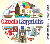 czech republic round background....