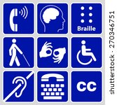blue disability symbols and... | Shutterstock . vector #270346751