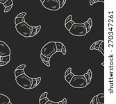 doodle bread seamless pattern... | Shutterstock . vector #270347261