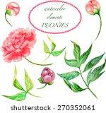 vector watercolor elements of... | Shutterstock .eps vector #270352061