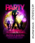 dance party poster with go go... | Shutterstock .eps vector #270352139