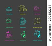vector graphic icon set of... | Shutterstock .eps vector #270352289