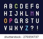 abc alphabet set | Shutterstock .eps vector #270354737